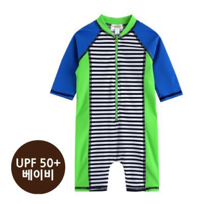 [베이비수영복] 그린ST수영복_(UPF50+) 영유아수영복 수트수영복