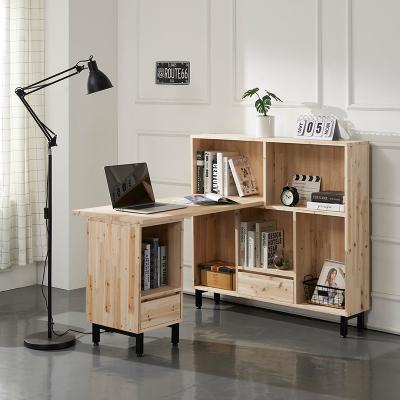라릴 삼나무 H형 책상+1200 책장 세트 B형