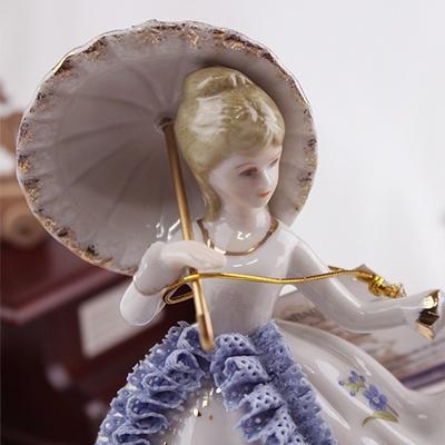 세라믹 우산 쓴 여인(핑크/블루)(YA-566)