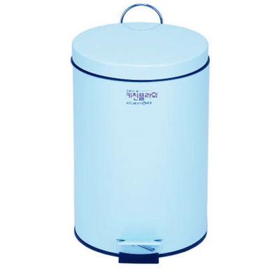 데코 페달 무소음 휴지통 용량 5리터 블루 컬러