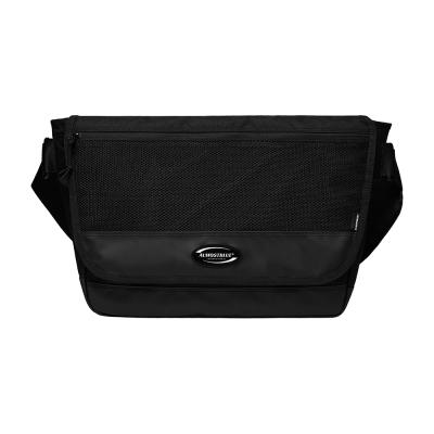 [얼모스트블루] RUBBER LOGO MESSENGER BAG