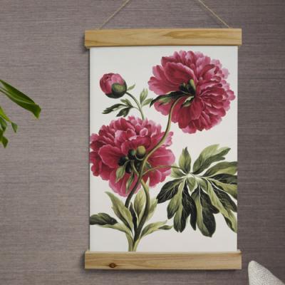 ie941-우드스크롤_40CmX60Cm-풍수에좋은꽃그림