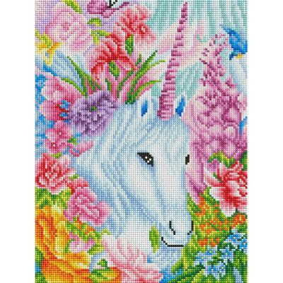 꽃보다 유니콘 (캔버스형) 보석십자수 30x40