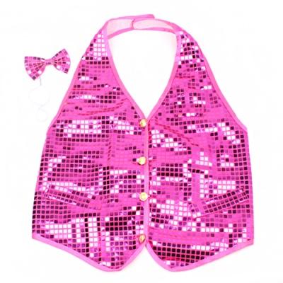 반짝이조끼(아동용)-핑크
