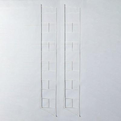 철재 스텐딩 모듈 선반 지지대  2개 묶음 DIY-화이트