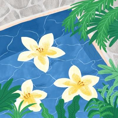 Flower pool엽서