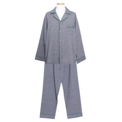 [쿠비카]솔트 이중거즈면 포켓 카라넥 남성잠옷 M260