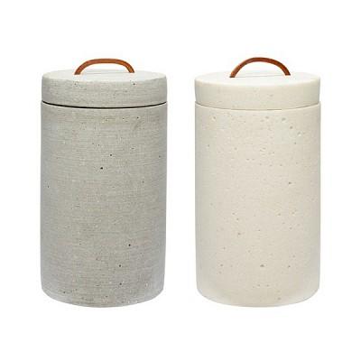 [Hubsch]Jar w/lid, grey 보관통