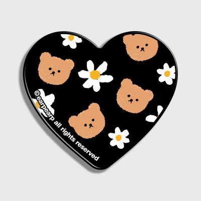 Dot flower bear-black(하트톡)