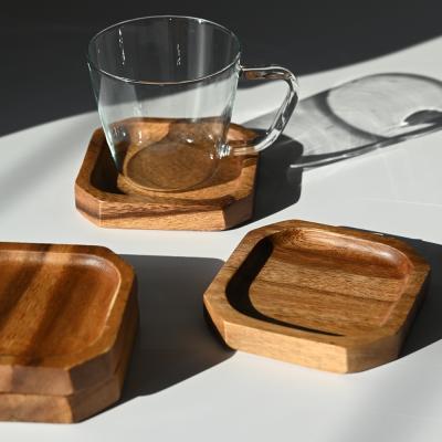 롬우드 컷팅 원목 컵받침