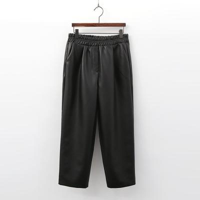 Vegan Leather Crop Wide Pants