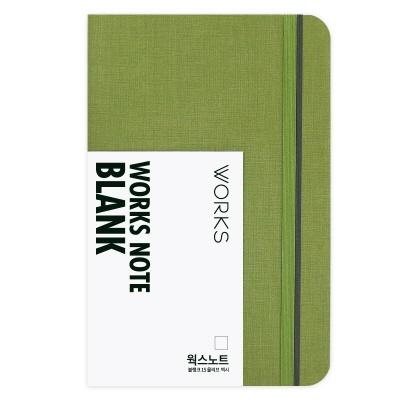 [무료 이니셜각인]웍스 노트 블랭크 15 올리브 맥시