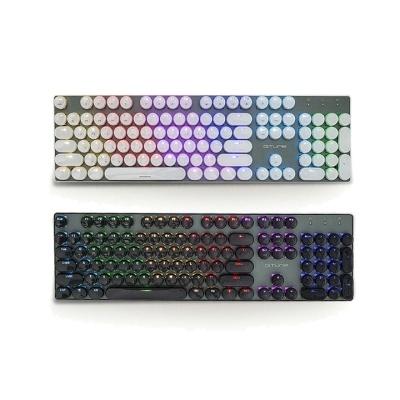 한성컴퓨터 GTune 슬림 클래식디자인 기계식키보드 GK400 XRGB AQUA STONE (XRGB 백라이트 / 크리스탈서클 키캡 / 청축,적축,갈축)