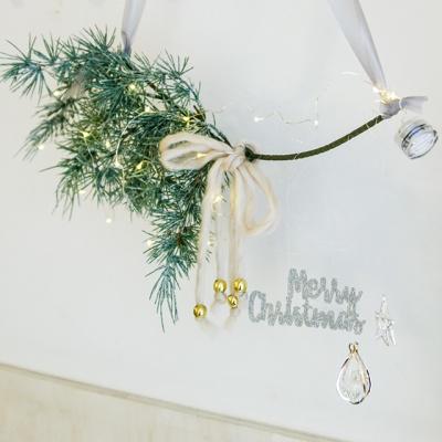 크리스마스 행인 갈란드+와이어전구