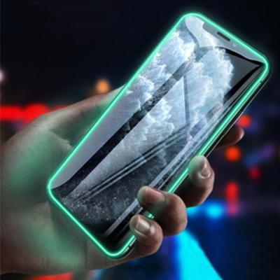 아이폰se2 11pro max xr xs 8/야광 강화유리 액정필름