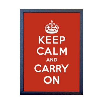 KEEP CALM 포스터 - 레드