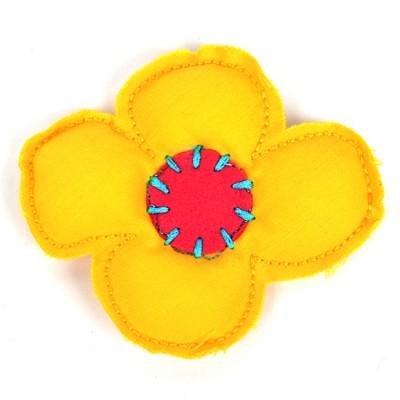 [헤어보우] 비비드플라워 헤어핀-Yellow