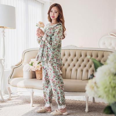 [쿠비카]장미 플라워 순면 투피스 여성잠옷 W172