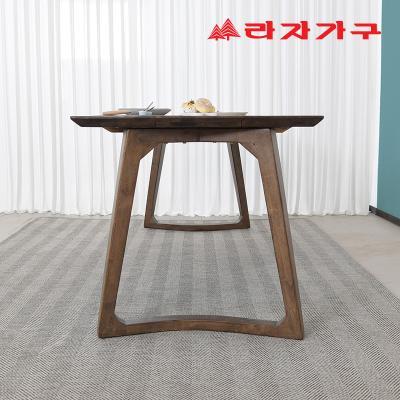 헤들 고무나무 원목 식탁 테이블 6인