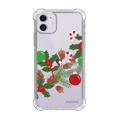 뮤즈캔 ADEEPER 아이폰 11 크리스마스 스티커 케이스