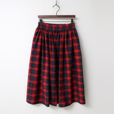 School Check Full Skirt