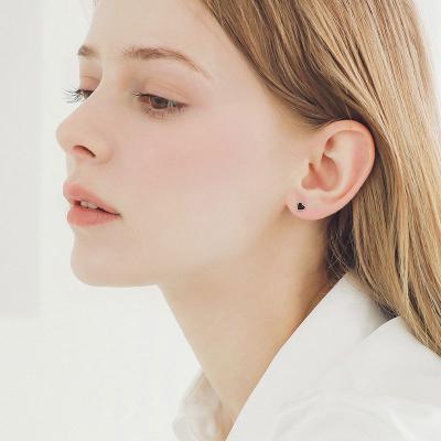 제이로렌 G0245 블랙 하트 귀걸이