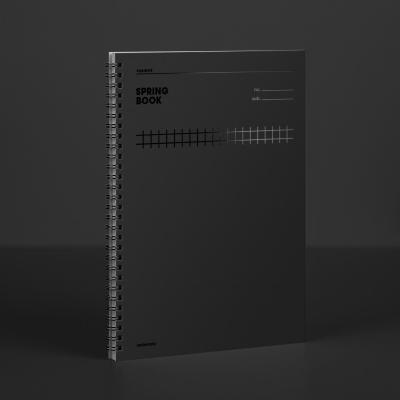 [컬러칩] 스프링북 스퀘어드 - 블랙