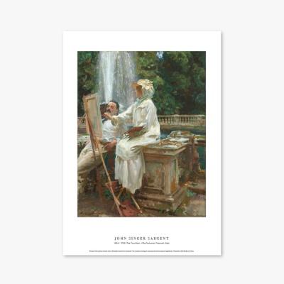 명화 포스터 갤러리 액자 John Singer Sargent 121 The Fountain, Villa Torlonia