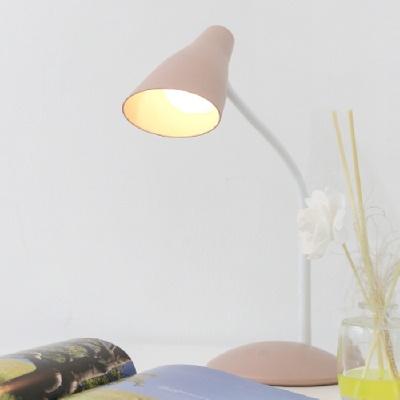 아이린 충전식 무선 전구형 LED스탠드,핑크