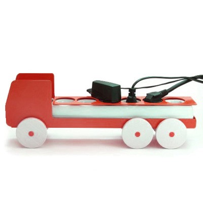 Plug Truck Large Red