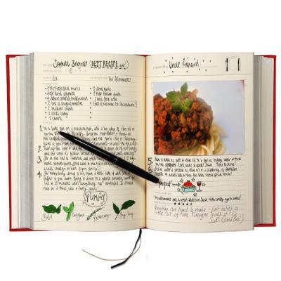 [썩유케이] 가족 요리책 레시피북 레드