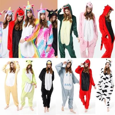 동물 캐릭터 수면 잠옷/커플 극세사 기모 파자마/파티