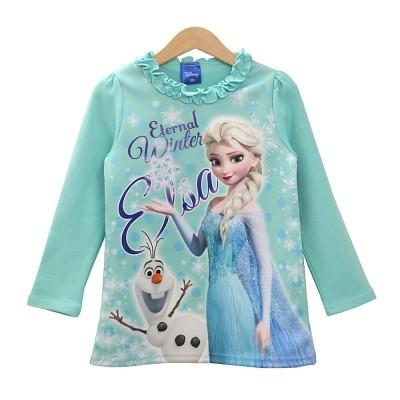 Disney 正品 Frozen frill long tee