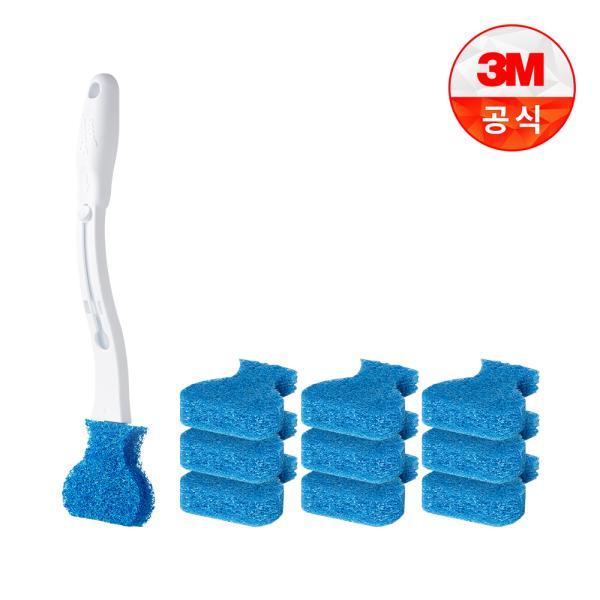 [3M]크린스틱 변기청소 핸들+리필 10입
