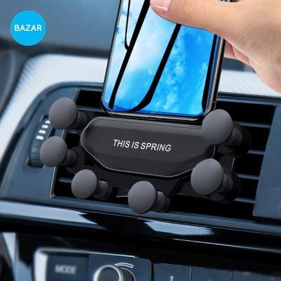BAZAR 차량용 핸드폰 송풍구 거치대 스프링 마운트 S7