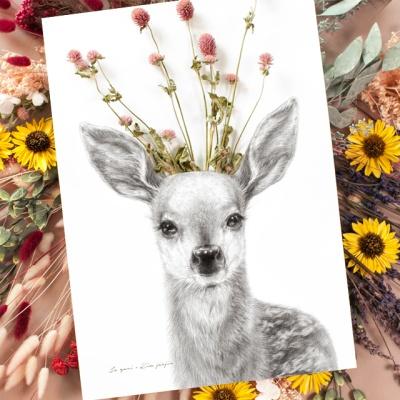 플라워포켓 사슴 + 행잉프레임 세트