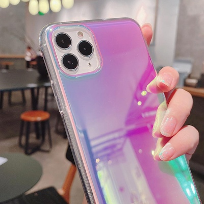 아이폰11 PRO MAX SE2 8 XR 반투명 홀로그램 폰케이스