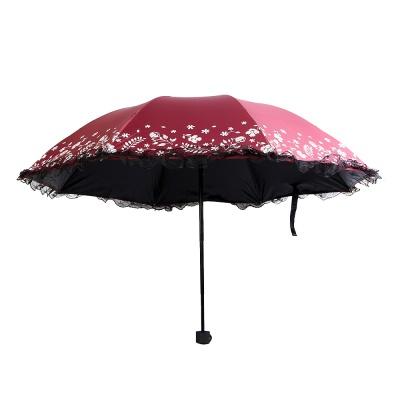 플로랄 우산겸용 양산/자외선차단 3단우산 접이식우산