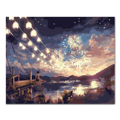 DIY 페인팅 섬마을의 불꽃축제 PL67 (40x50)