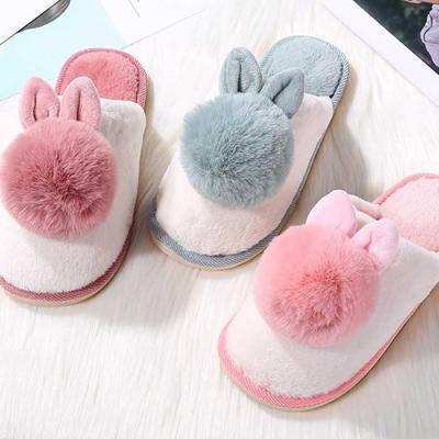 Winter woman 깜찍 포근 rabbit fur 털실내화 3color