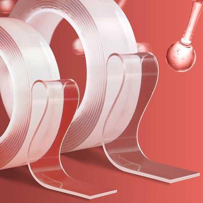 강력흡착 투명 양면테이프 세척사용 가능 1cmx1Mx2mm