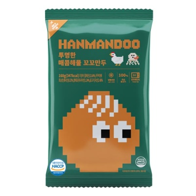 [한만두] 매콤해물 꼬꼬만두 168g(6알)x7팩