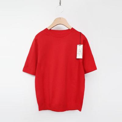 Maille Round Sweater - 반팔