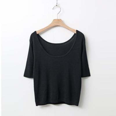 Summer U-Neck Crop Knit