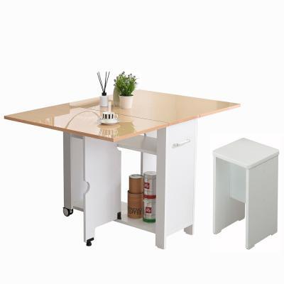 뉴800 하이그로시 접이식테이블+의자1개 2-4인용 식탁