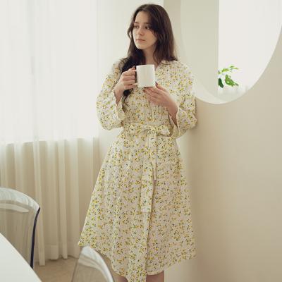 레몬 로브 원피스 잠옷 홈웨어