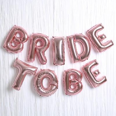은박풍선 커튼세트 (BRIDE TO BE) 로즈골드