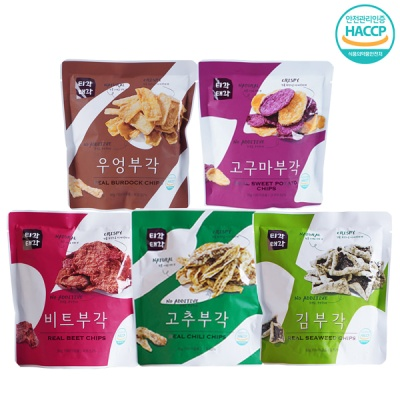 바삭바삭 부각(고추+우엉+고구마+비트+김)x각30g