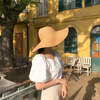 와이드 빅챙 플로피햇 모자