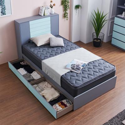 러블리 도어수납 서랍형 침대 슈퍼싱글+독립 매트리스